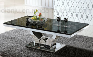 Square Marble Stainless Steel Furniture (CT6108#) pictures & photos