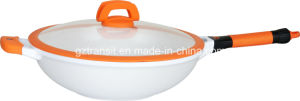 Casting Aluminum Wok with Silicon Handles pictures & photos