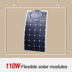110W Semi Flexible PV Panel for Rvs and Long-Haul Trucks