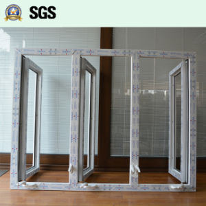 White Colour UPVC Profile Casement Window with Crank Lock K02052 pictures & photos