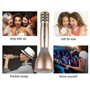 Wireless Microphones Karaoke, 3-in-1 Bluetooth Karaoke machine KTV(Gold) pictures & photos