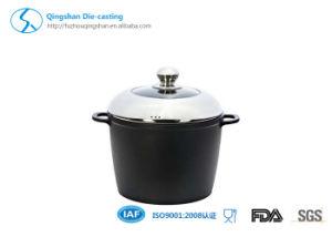 Pressed Aluminium Non Stick Metallic Coating Soup Pan pictures & photos