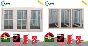 UPVC Double Glazed Sound Insulation Window, Australian Standards Windows As2047 pictures & photos