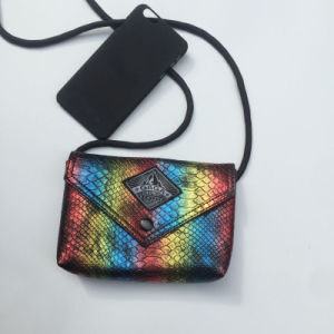Colorful Serpentine Pattern PU Fashion Hand Bag (M009-2) pictures & photos