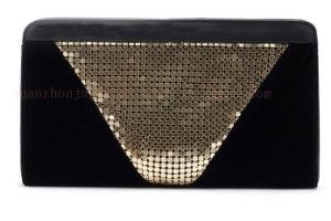 OEM Fashion Paillette Matte Black Evening Wrist Hand Bag pictures & photos