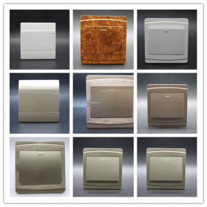 Flat Customize Color European Ce 1 Gang Wall Switch pictures & photos
