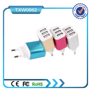 Colorful 5V 2A 3USB Port Mobile Travel Charger pictures & photos