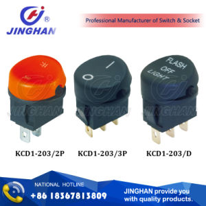 Kcd1-203 Rocker Switch Dia: 22mm Round Electric Switch pictures & photos