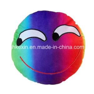 Custom Size Colorful Plush Toy Emotion Emoji Pillow for Decoration pictures & photos