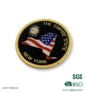Rope Edge Stamping Hard Enamel American Souvenir Collective Coins (HST-SCS-120) pictures & photos