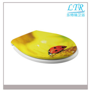 Hot Sale Universal Duroplast Printed Toilet Seat Cover pictures & photos