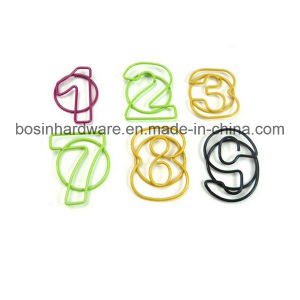 Custom Numbers Shape Plastic Coated Paper Clips pictures & photos
