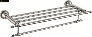 304 Stainless Steel Double Towel Rack for Bathroom pictures & photos
