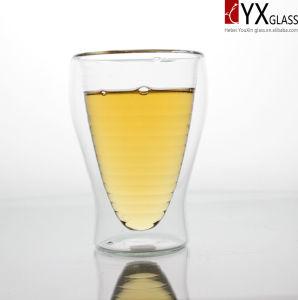 300ml Double Wall Glass Tea Cup/Double Wall Glass Coffee Cup/Double Layer Glass Tea Cup