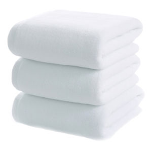 Custom Soft Plain White Cotton Hotel Towels for Bathroom pictures & photos
