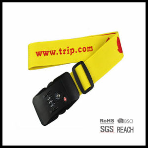 Woven Estastic Luggage Strap Tsa Approved Combination Lock Adjustable Suitcase Travel Belt Packing Belt pictures & photos