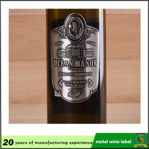 Top Selling and Cheap Custom Made Tearproof Aluminum Metal Wine Sticker Label pictures & photos