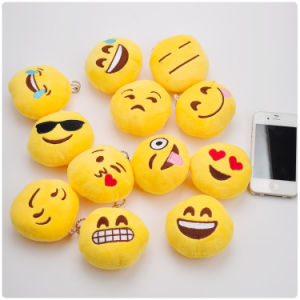 Emoji 10cm Plush Hot Sale Soft Stuffed Funny Keychain Toy pictures & photos