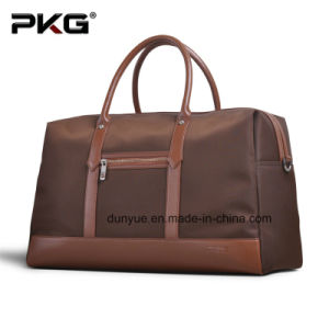 Promotion PU Leather Handle Nylon Travel Bag, Fashion Tote Luggage Bag for Business Trip pictures & photos