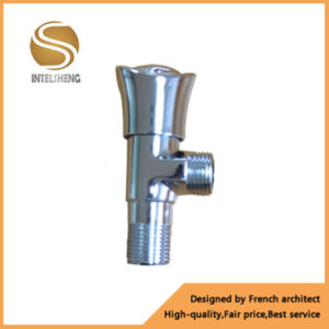 Yuhuan Red Handle Brass Angle Valve with Female/Male Thread pictures & photos