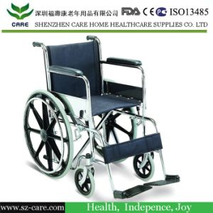 Rehabilitation Therapy Manual Steel Wheelchair pictures & photos