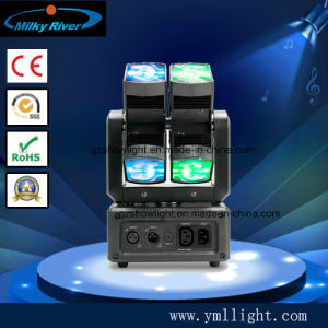 Hot Wheels 10W LED Powerful 8 Quad Beam LED Moving Head Stage Party DJ Light pictures & photos