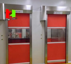 Automatic Clean-Room Industrial High Speed Rolling Shutter Roo-up Interior Factory Doors pictures & photos