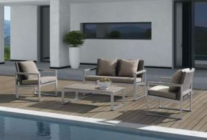Summer Romanric Aluminum PE Rattan Sofa pictures & photos