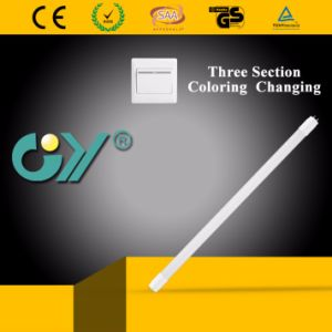 Three Section Coloring Changing LED Tube Light with Ce, RoHS pictures & photos