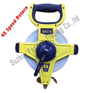 Construction Tools/4X Rewinding Speed Fiberglass Tape/Measuring Tape pictures & photos