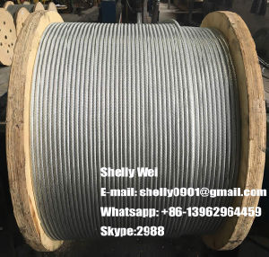 "3/16"", 1/4"", 5/16"", 3/8"" and 1/2""Galvanized Steel Wire Strand ASTM A363 pictures & photos"