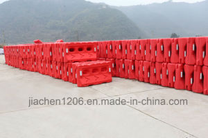 Jiachen Factory Direct Sale Road Water Filled Three Hole Plastic Traffic Barrier pictures & photos