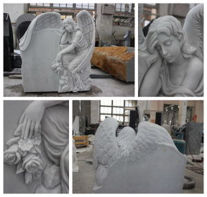 Top Carving Angel Sculpture Memorials Headstone for Sale pictures & photos