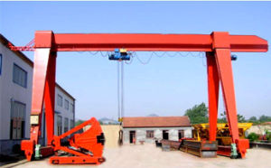 Single Girder Gantry Crane with Hook for Road Construction pictures & photos