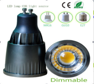 7W Dimmable GU10 COB LED Light pictures & photos