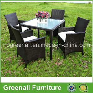 Kd Style 4 Seater Rattan Dining Table and Chairs Set pictures & photos