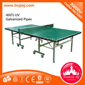 Popular Ping-Pong Table Outdoor Folding Tennis Table with Wheels pictures & photos