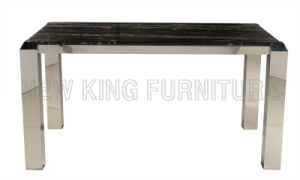 Modern Luxurious Marble Top Stainless Steel Foot Dining Furniture Set (NK-DT076) pictures & photos