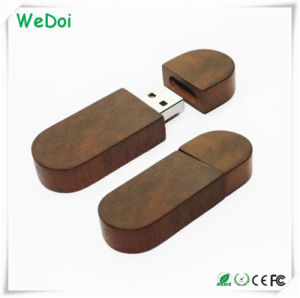 Wooden USB Flash Disk with Customized Logo as Promotional Gift (WY-W26) pictures & photos