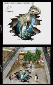 Dinosaur Tyrannosaurus Rex 3D Floor Sticker pictures & photos