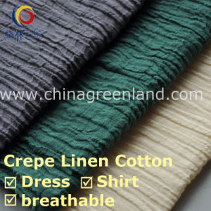 High Quality Crepe Linen Cotton Fabric for Dress (GLLYMM001) pictures & photos