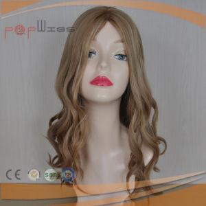 Hot Selling Human Hair Blond Silk Top Women Wig pictures & photos