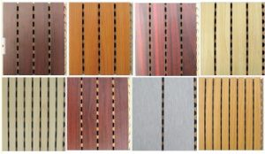 Melamine Laminated MDF Grooved Wooden Acoustic Panel pictures & photos