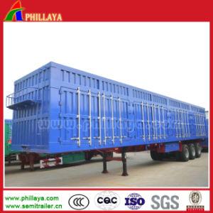 Cargo Transporting Tri-Axle Aluminum Box Body Truck Trailer pictures & photos