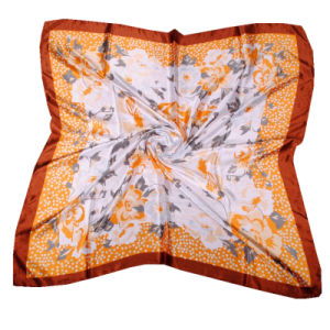 Spring Autumn Fashion Women Silk Kerchief Scarves 90*90cm pictures & photos