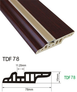 7.8cm Height PVC Floor Wall Baseboard Plastic Skirting Wood Coated by Alu Decorated pictures & photos