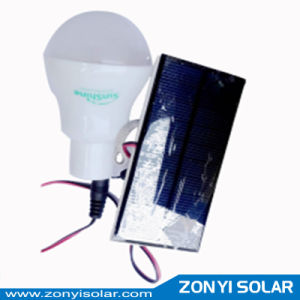 Single LED Light with Solar Panel Portable Solar Light for Home Use pictures & photos