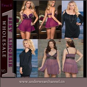 Wholesale Plus Size Women Sexy Underwear Night Dress Lingerie (TQML5815) pictures & photos
