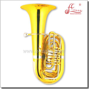 C Key Tuba 4 Valves Gold Lacquer Rotary Tuba pictures & photos