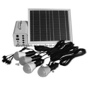 10W Portable Mini Solar Power System for Home Lighting Use pictures & photos